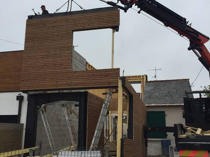 Cr ation construction maison ossature bois bordeaux bassin d 39 arcachon charpentier travaux for Construction maison en bois bordeaux